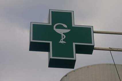 Вывеска аптечный  крест