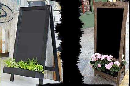 Штендер с цветами